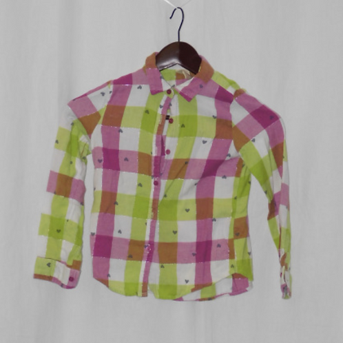 Girls Long Sleeve Shirt - Size S (6x)