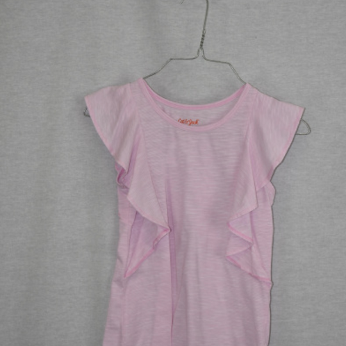 Girls Short Sleeve Shirt, Size M (7/8)