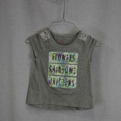 Girls Short Sleeve Shirt, Size S (5/6)
