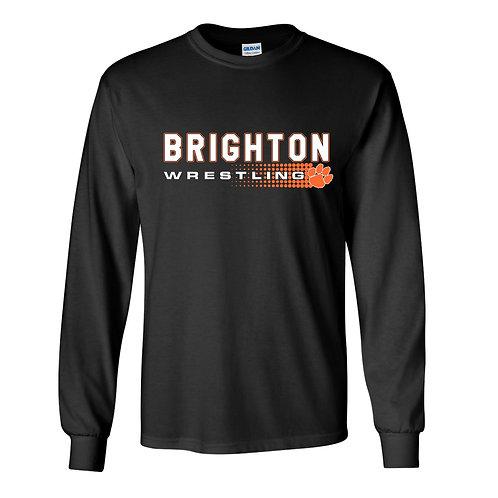 Brighton Wrestling Long Sleeve Tee - halftone design