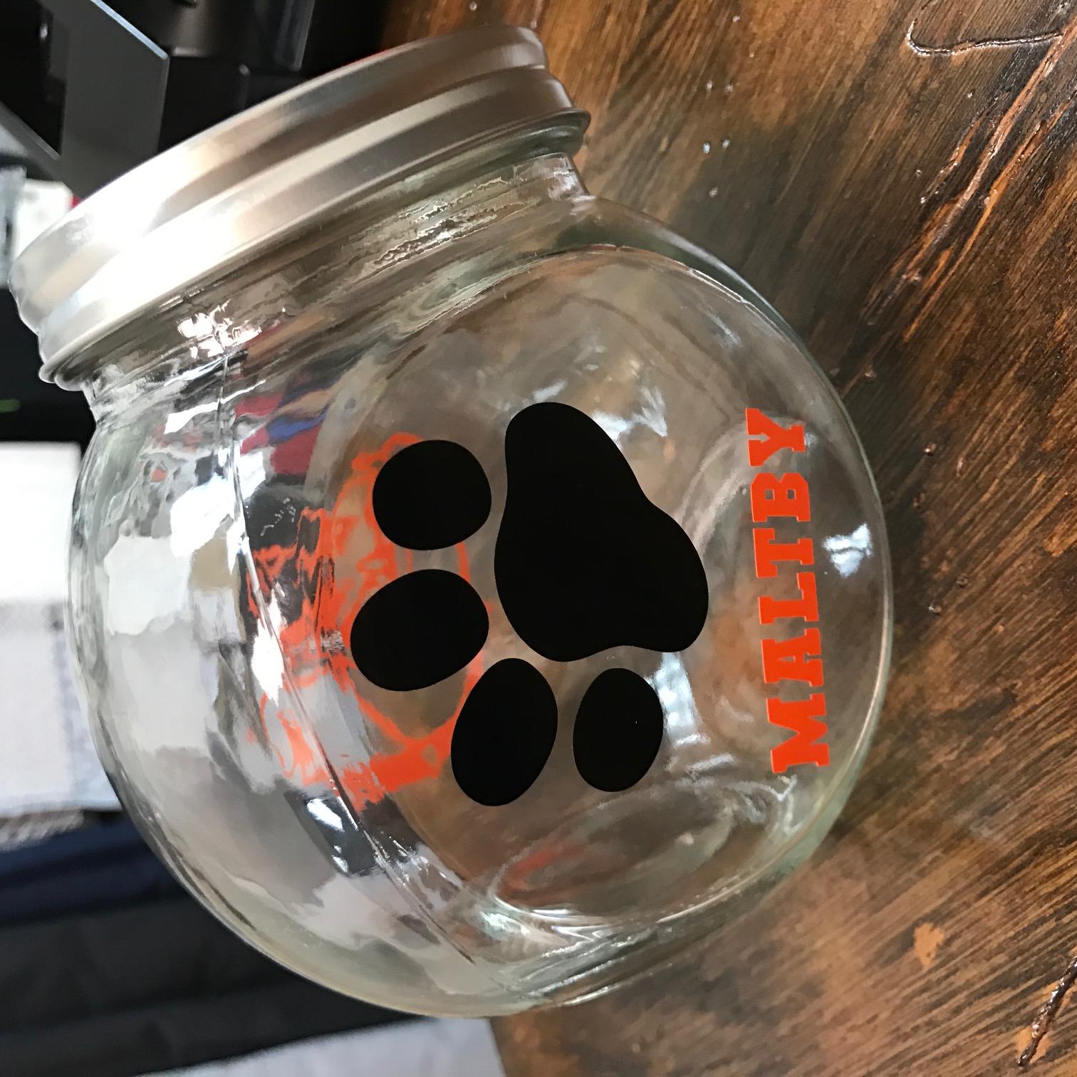 Bulldog Mini Candy Jar