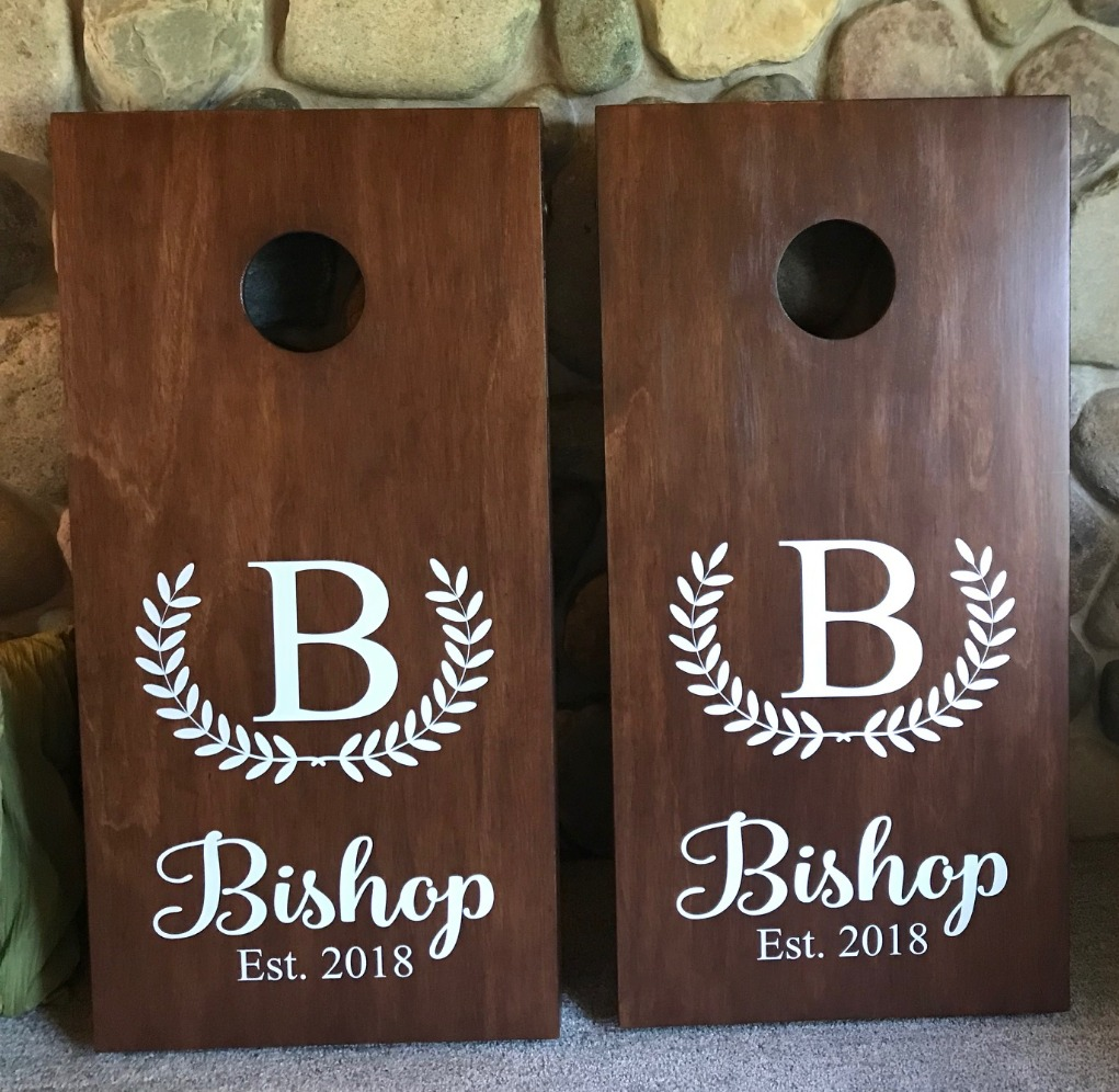 Wedding Corn Hole Boards