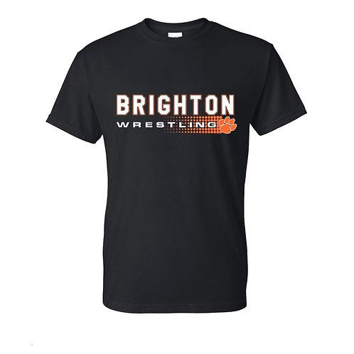 Brighton Wrestling Tee - halftone design
