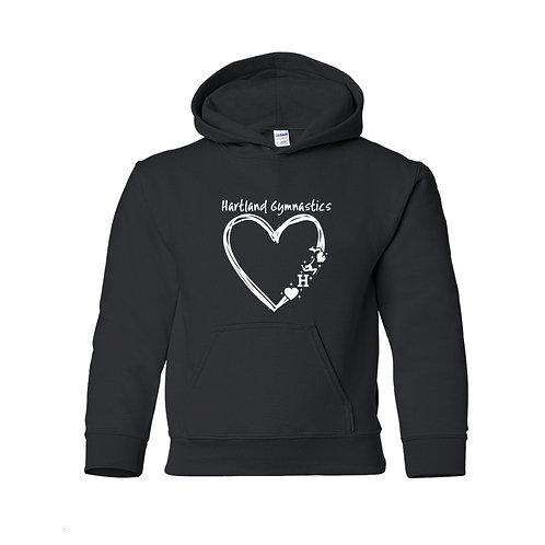 Hartland Gymnastics Heart Hoodie