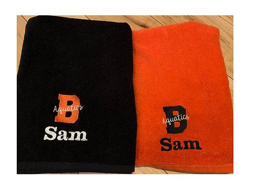 Brighton Aquatics Personalized Towel