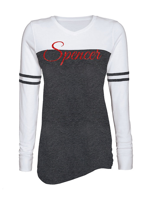 Spencer Ladies Varsity Long Sleeve Tee