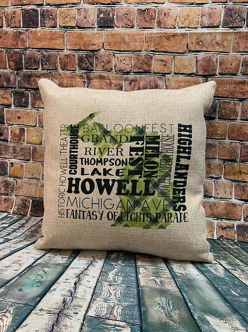Howell Faux Burlap Pillow