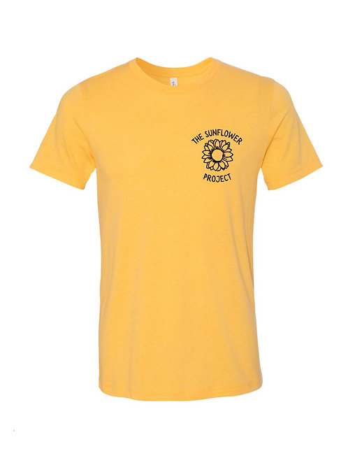 The Sunflower Project Tee - Heather Yellow