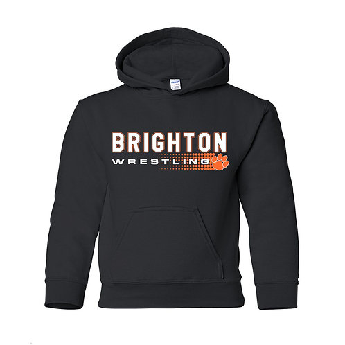 Brighton Wrestling Hoodie - halftone design