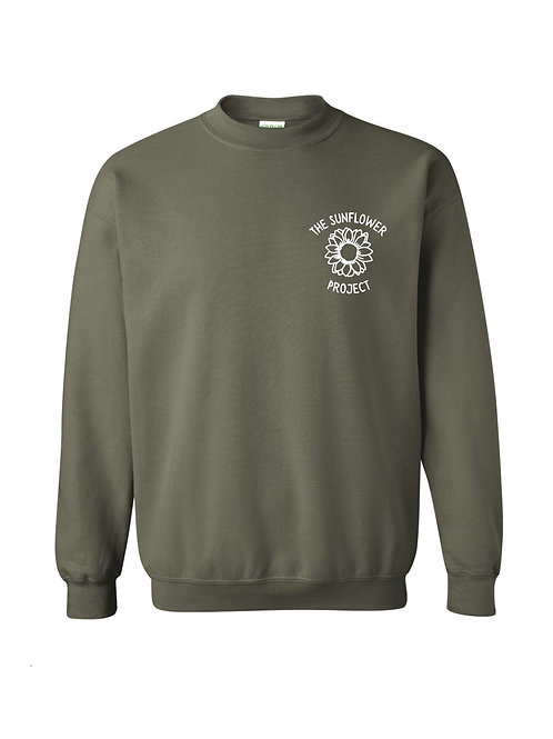 The Sunflower Project Crewneck - Military Green