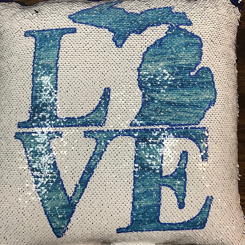 "Michigan Love ""Mermaid"" Pillow"