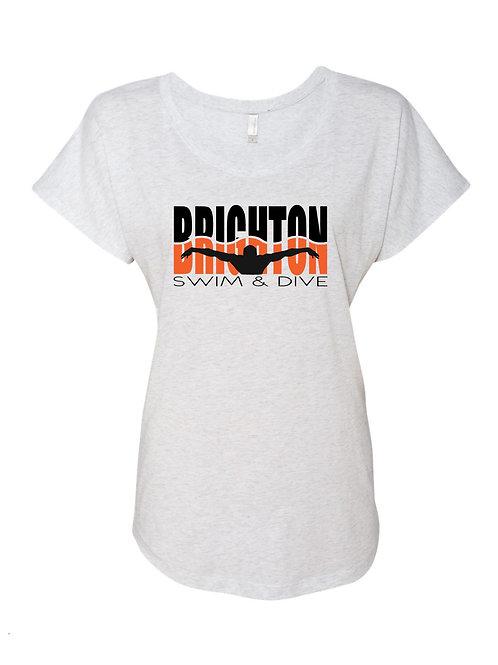 Brighton/Scranton Swim & Dive Ladies Dolman Tee