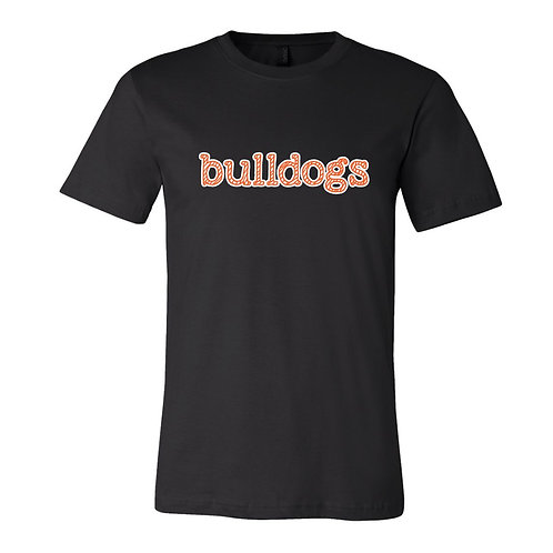 "Bulldogs Tee - ""candy cane"" design"