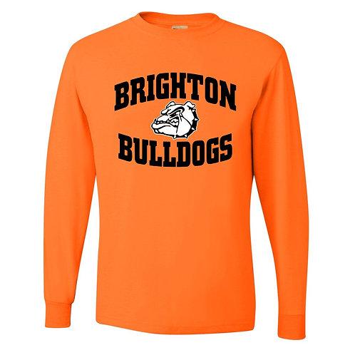 Bright Orange Bulldog Long Sleeve T-Shirt