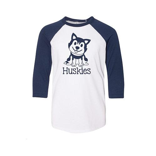 Huskies Raglan 3/4 Sleeve Tee