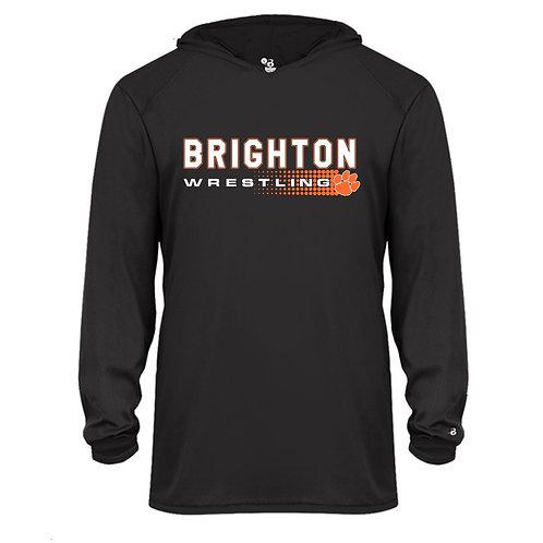 Brighton Wrestling Performance Hoodie - halftone design