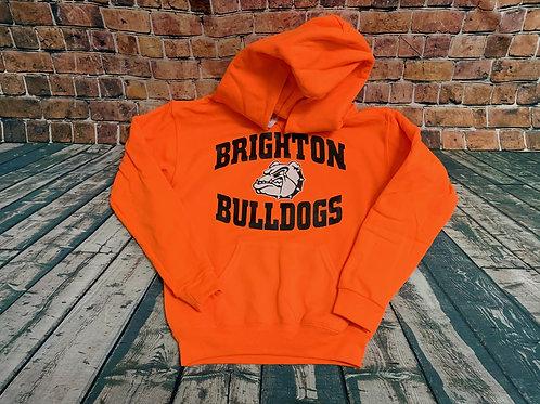 Bright Orange Bulldog Hoodie