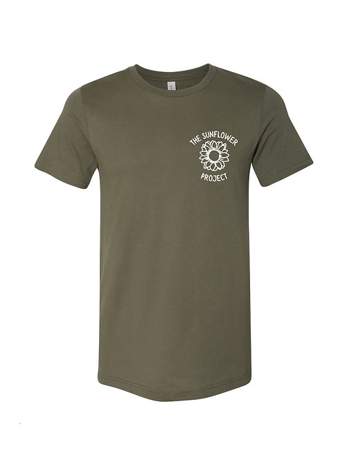The Sunflower Project Tee - Military Green