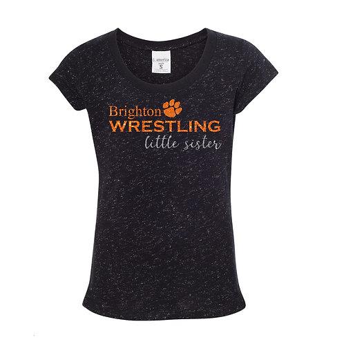 """Brighton Wrestling """"Little Sister"""" Glitter Tee"""
