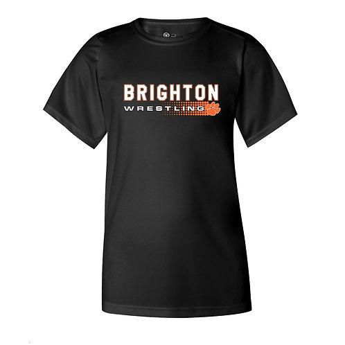Brighton Wrestling Performance Tee - halftone design