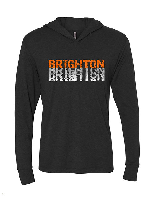 Vintage Brighton Hooded Long Sleeve Tee