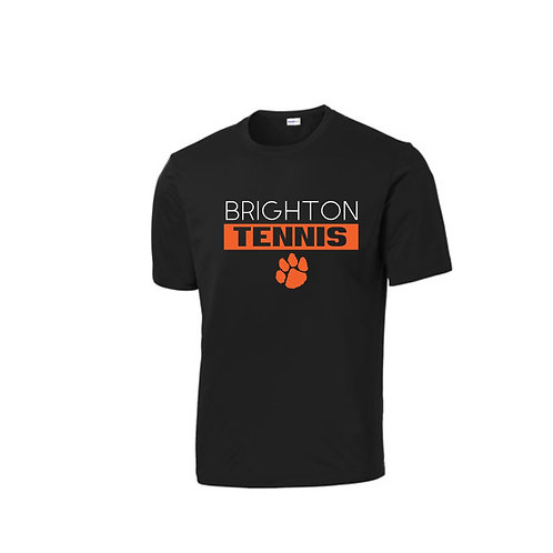 Black Brighton Tennis Performance Shirt (Long or Short Sleeve)