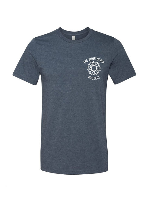The Sunflower Project Tee - Heather Navy