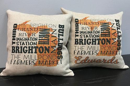 Brighton Faux Burlap Pillow