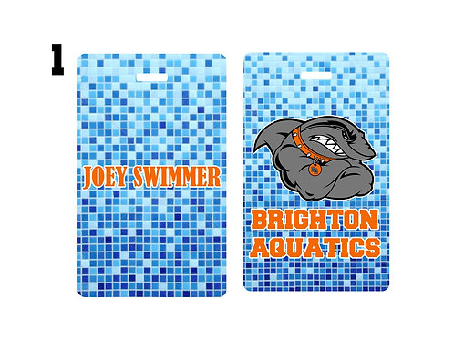 Brighton Aquatics Bag Tags