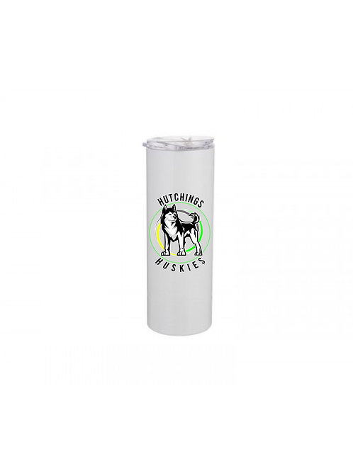 20oz Hutchings Huskies Tumbler - with aluminum straw