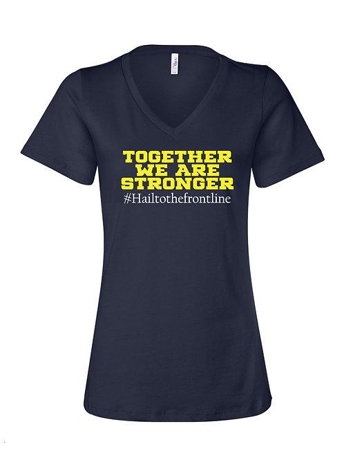 "Michigan Medicine Together"" V-Neck - alternative design"