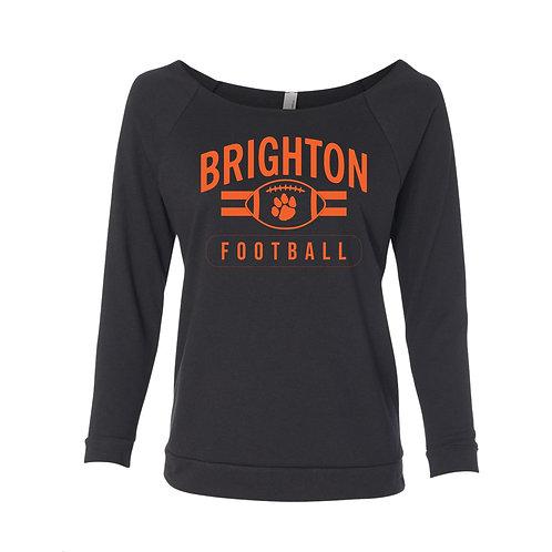Brighton Football Ladie's Raw Edge 3/4 Sleeve Raglan Sweatshirt