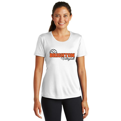 White Brighton Volleyball Performance Tee (Unisex or ladies)