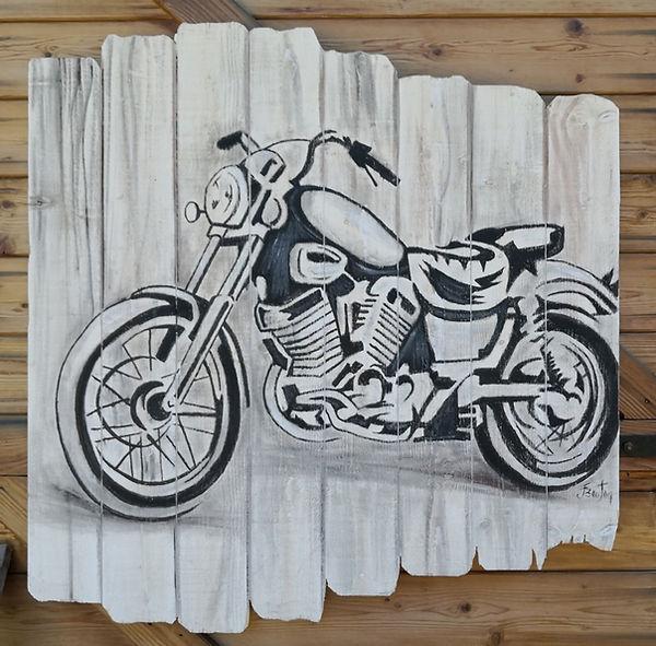Peinture à l'huile sur bois