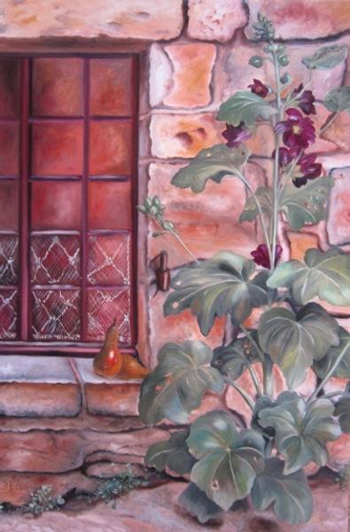 N°450 Fenêtre rose trémière 80x120