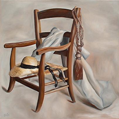 298-le chapeau sur le fauteuil provençal