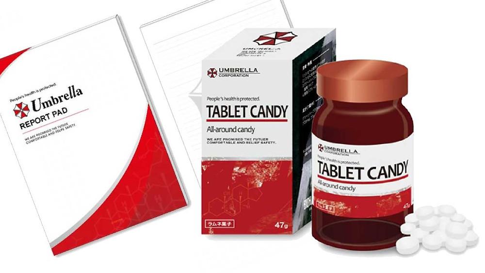 Umbrella Candy Bonbon Tablet Tabletten Resident Evil Biohazard