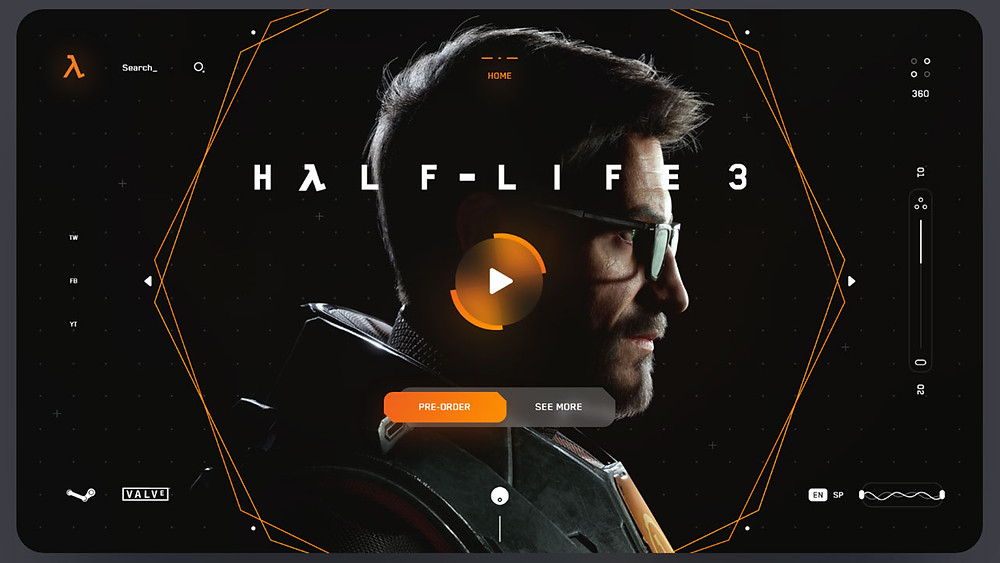 Half Life 3 Mockup