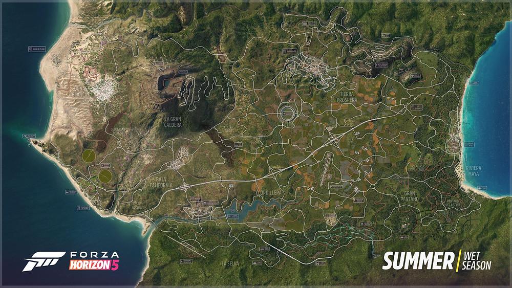 Forza Horizon 5 komplette Karte Xbox Series Complete Map