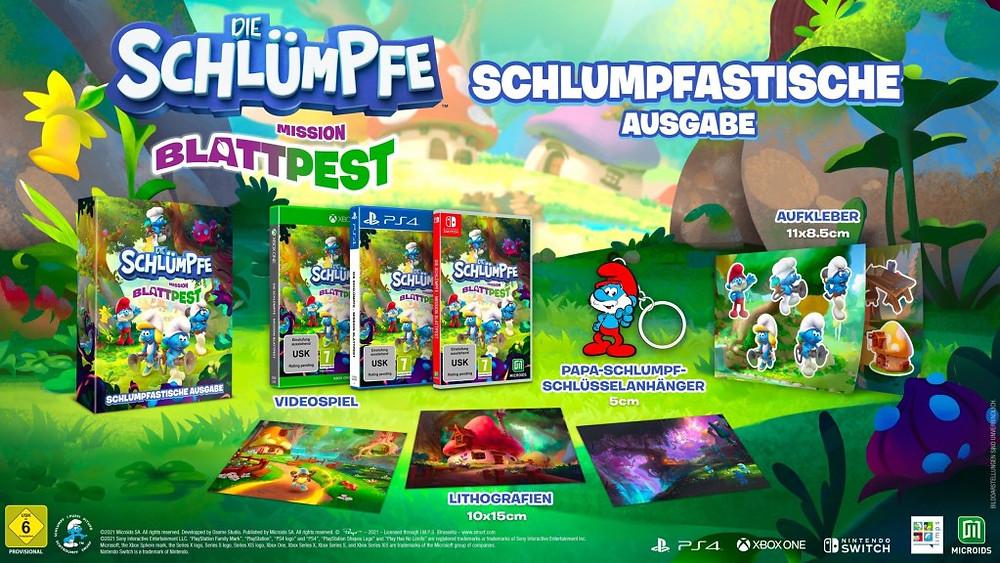 Die Schlümpfe: Mission Blattpest Gameplay Trailer Video Switch PS5 Xbox Series X Collectors Edition Schlumpfastische Ausgabe