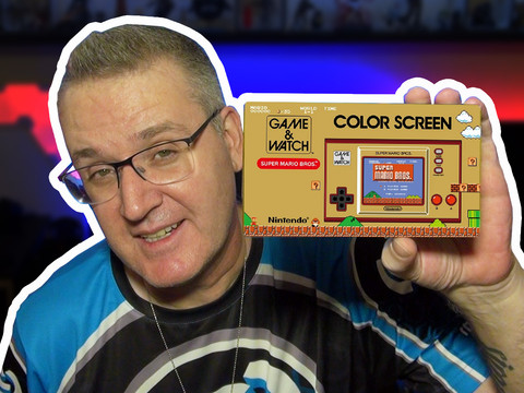 Kleine Demo des neuen Game & Watch Color Screen