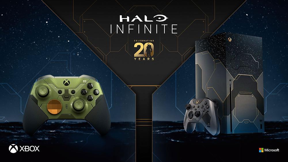 Halo Infininte Limited Edition Xbox Series X Konsole und Elite 2 Controller