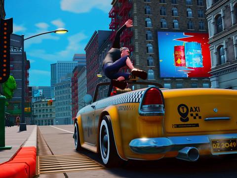 Taxi Chaos erinnert stark an Sega's Crazy Taxi