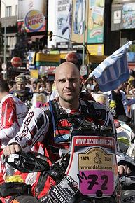 Rally raid pilot Snijders in Dakar Rally