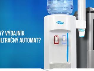 Výdajník s balenou vodou alebo filtračný automat, čo je pre Vás najvhodnejšie?