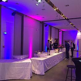 Éclairage cocktail d'entreprise Lyon