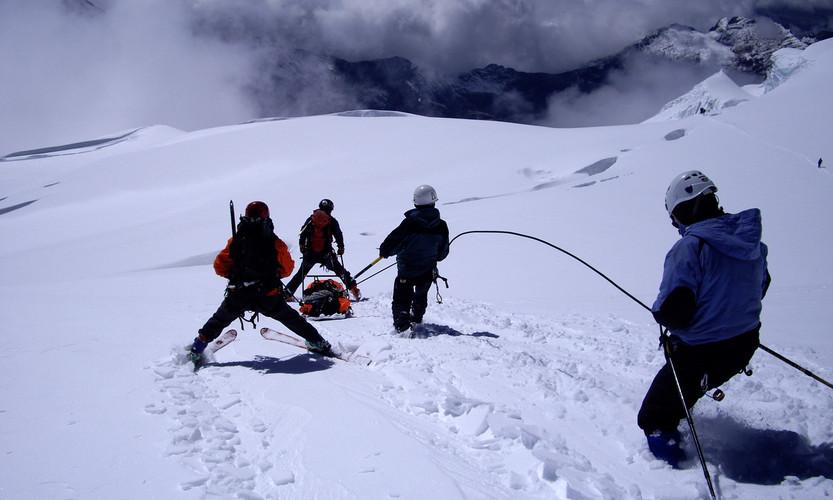 Apoyo con skis