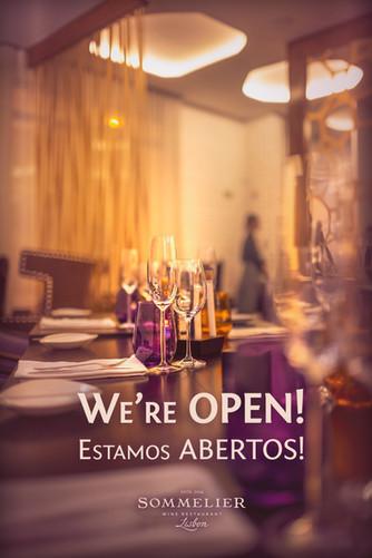 We're open! Estamos abertos!
