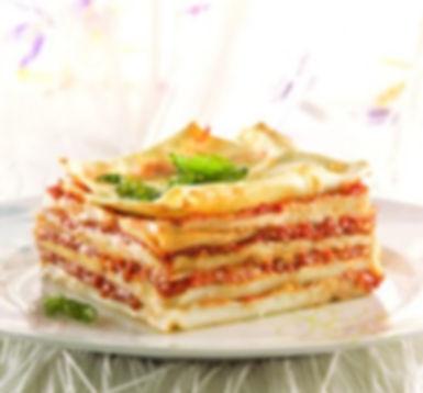 לזניה במילוי מרסקפון וקולי עגבניות