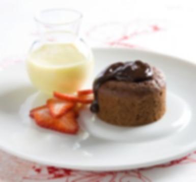 עוגת שוקולד חמה גודל מאפניס ליחידה